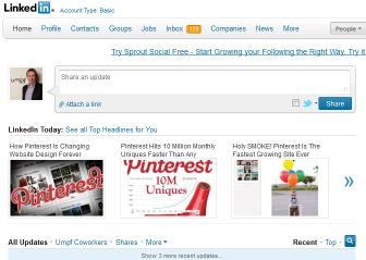 Pinterest LinkedIn Top 3 stories