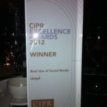 Umpf 2012 CIPR Excellence Best use of Social Media 3
