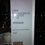 Umpf 2012 CIPR Excellence Best use of Social Media 3