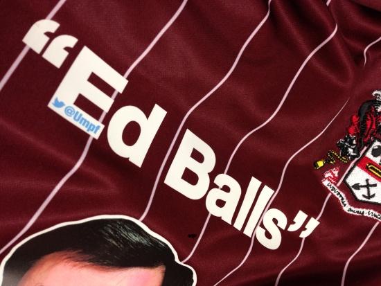 Ed Balls Morley Town Umpf social media stunt badge