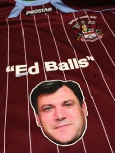 Ed Balls Morley Town Umpf social media stunt