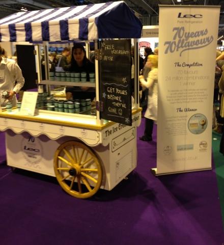LEC ice cream cart at BBC Good Food show