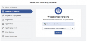 Facebook ad objective