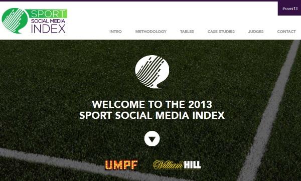 Sport Social Media Index website