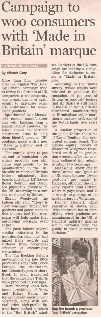 Made in Britain Campaign Financial Times Umpf
