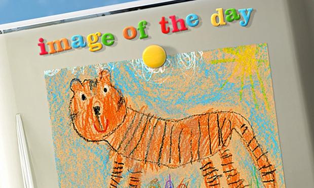 Barnardo's: fridge door with child's drawing