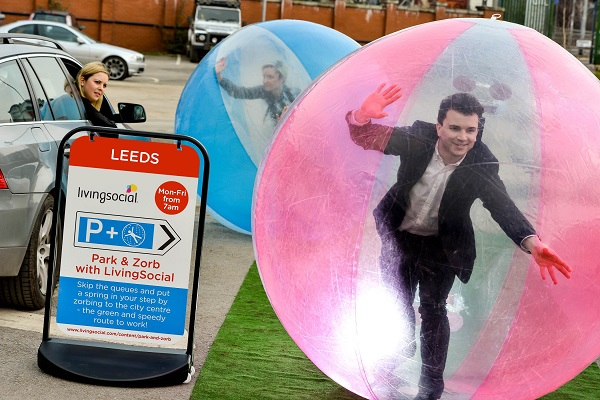 Nathan in Zorb resized