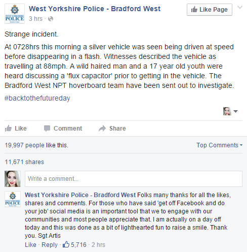 West Yorks Police back to the future