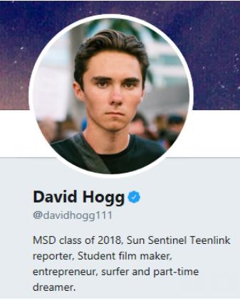 David Hogg Twitter