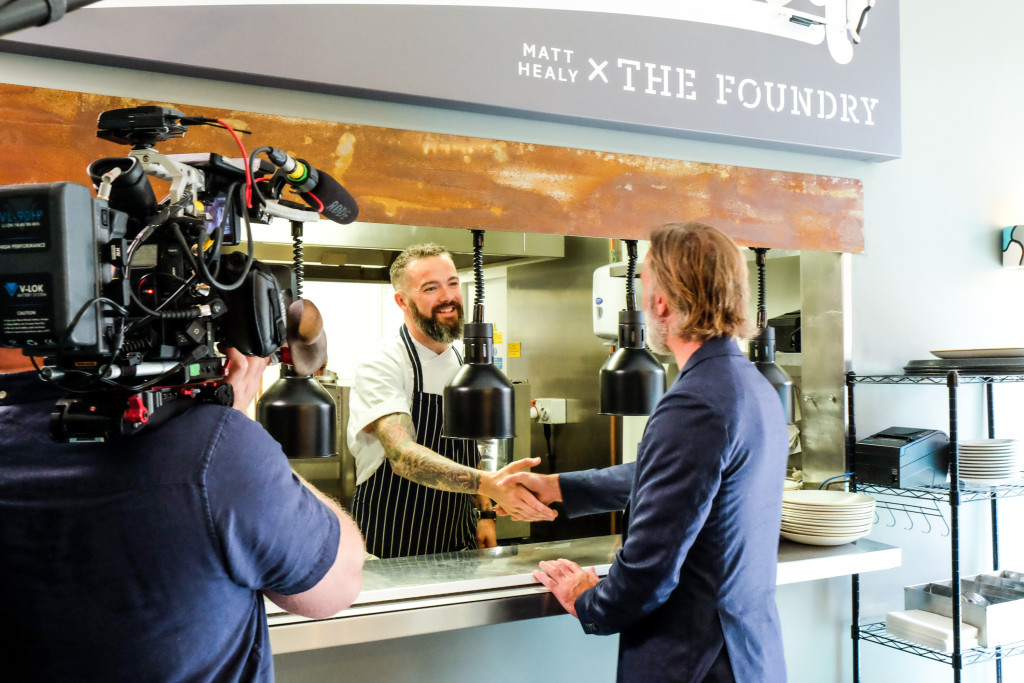 Matt Healy x The Foundry during BBC filming with Marcus Wareing 6
