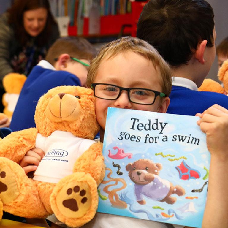Teddy Goes For A Swim Belling Adrian Johnson