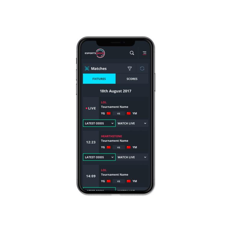 Esports Website Design